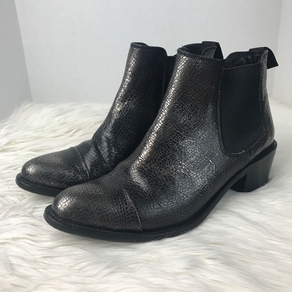 Dolce Vita Shoes - Dolce Vita Silver Grey Metallic Ankle Booties