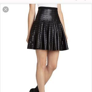 BCBG shanina vegan leather skirt