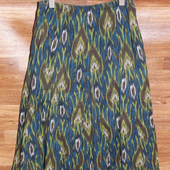 a83167ae56 Chico's Skirts | Chicos Peasant Gypsy Long Skirt Sz 1 8 Med Hw231 ...