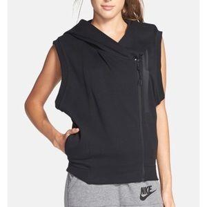 Gray Nike tech fleece vest