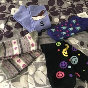 NWT, NWOT Lot of 4 pair of socks