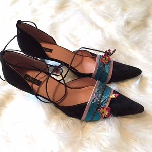 NYLA Asian Inspired Ankle Wrap 2 piece heels
