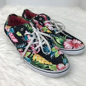 Vans Hawaiian Floral Low Top Canvas Sneakers