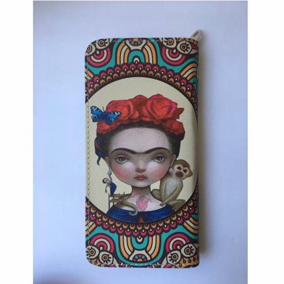 aaa05e8df0ee1 Handbags - New Frida Kahlo Cartoon inspired Wallet