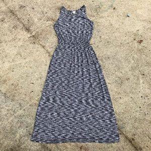 Soft Black & White Maxi Dress