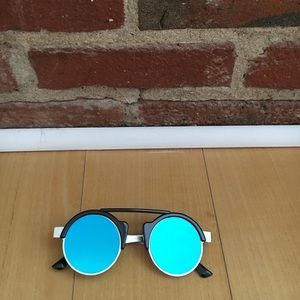 Spitfire sunglasses with green blue mirror lenses