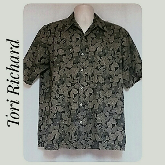 Tori Richard Other - Vintage Tori Richard Hawaiian Shirt Black Tan