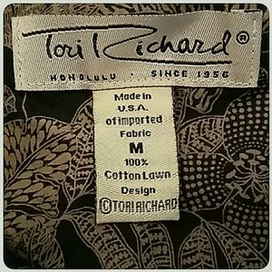 Tori Richard Shirts - Vintage Tori Richard Hawaiian Shirt Black Tan