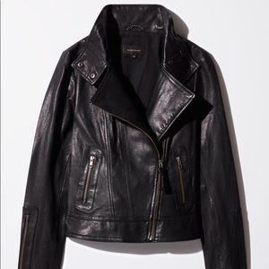 Aritzia Mackage Kenya Leather Jacket, Black