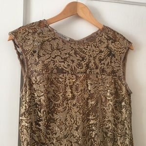 Beautiful Kay Unger Beaded Shift Cocktail Dress 6