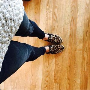 Joie leopard print kidmore calf hair flat
