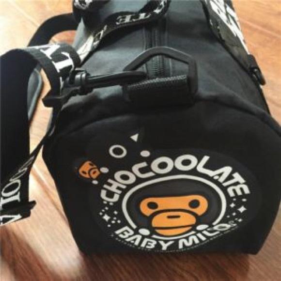 A Bathing Ape Bape Baby Milo Chocoolate Shoulder Handbag Travelling Sport Bag