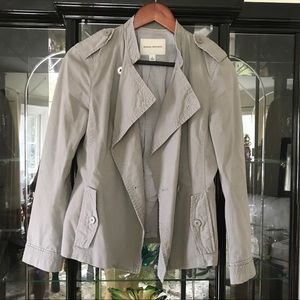 Banana Republic Asymmetrical Military Jacket Sz 6