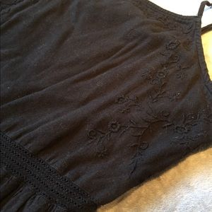 Cotton On- Black Burlap Dress
