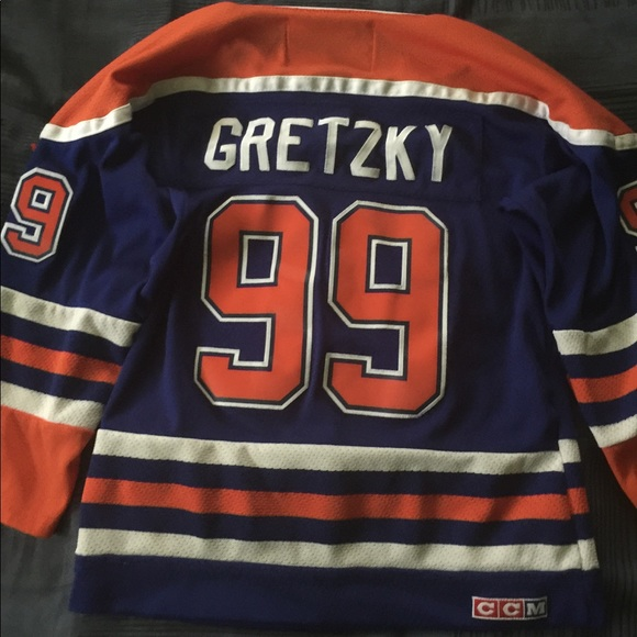 best service 59a33 46907 Wayne Gretzky Oilers Authentic Jersey Youth Small