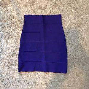 BCBG purple bandage skirt
