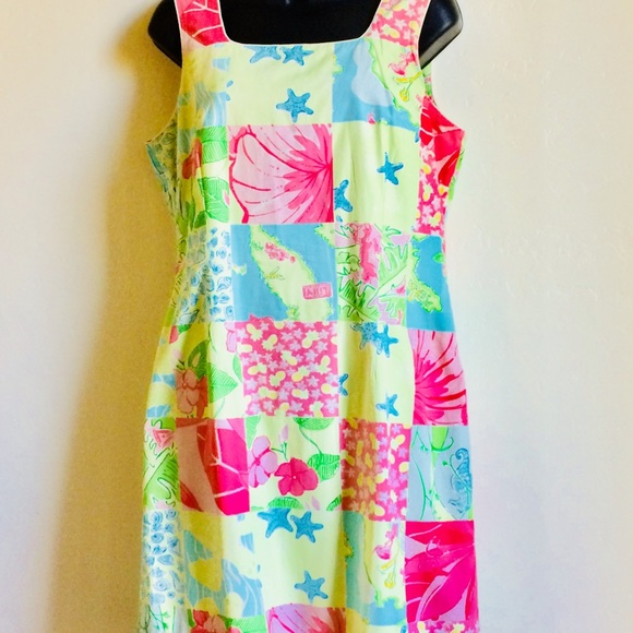 Lilly Pulitzer Dresses & Skirts - ⬇️ $48 Lilly Pulitzer Aruba Patchwork Dress Size 8