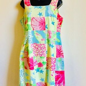 ⬇️ $48 Lilly Pulitzer Aruba Patchwork Dress Size 8