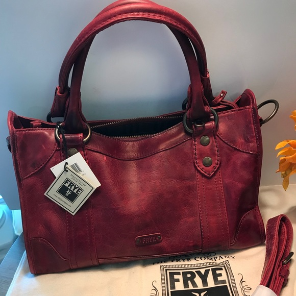 491c4d826b Frye Handbags - Frye Melissa leather satchel burgundy