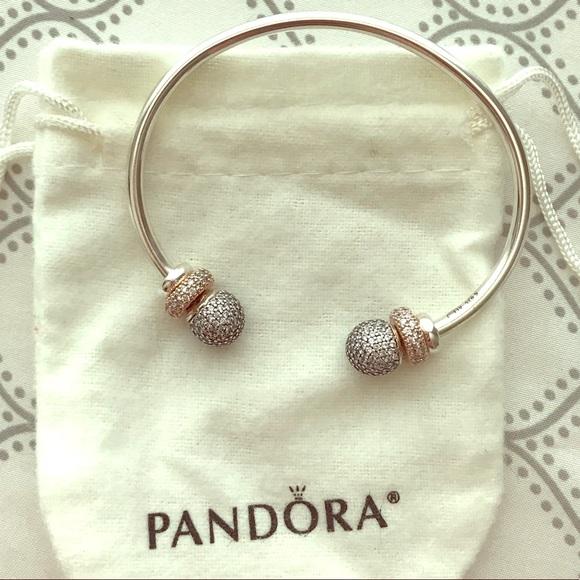 0f1301273 Pandora Jewelry | Open Bangle Cuff Rose Spacers | Poshmark