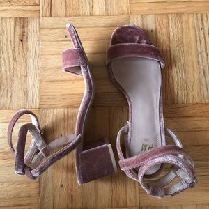 H&M Pink Suede Small Heels