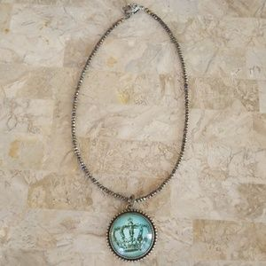 Jewelry - Shimmery Princess Crown Necklace NWOT