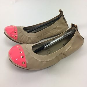 Yosi Samra - Packable Flats With Ponyhair & Studs