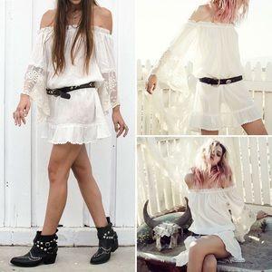 🌸SPELL DESIGNS🌸 Prairie Off Shoulder Mini Dress