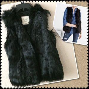 A&F faux fur vest