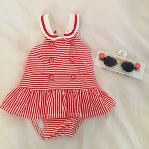 Gymboree NWT swimsuit & sunglasses