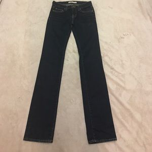 J Brand Stretch Ink Cigarette Leg Jeans Size 25