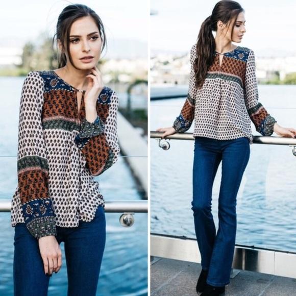 Les Amis Jackets & Blazers - Multi Color Boho Top
