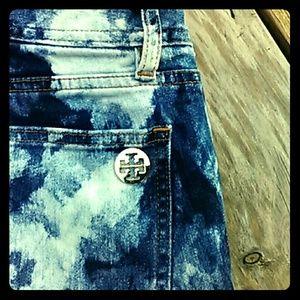Tory Burch tye dye jeans
