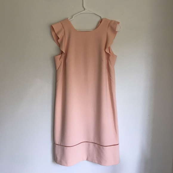 12931ed12a9c LOFT Dresses | Blush Flutter Sleeve Dress | Poshmark