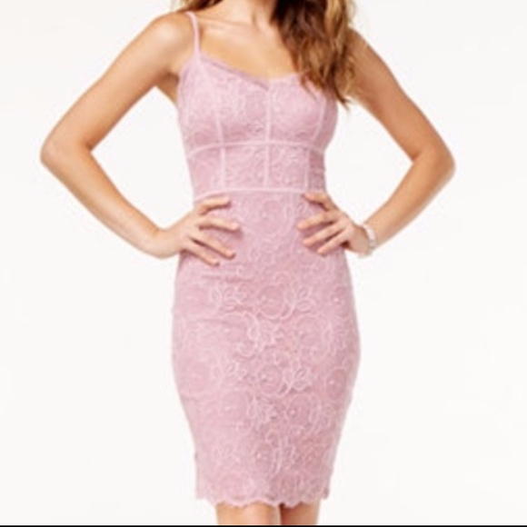 000e87709f46 B Darlin Dresses & Skirts - B Darlin Juniors' Mauve Lace Bodycon Dress ...