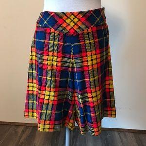 Vintage Hand Made High Waisted Plaid Shorts