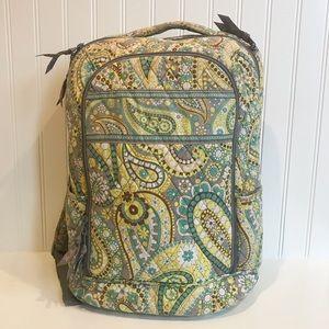 Vera Bradley Lemon Parfait Large Backpack
