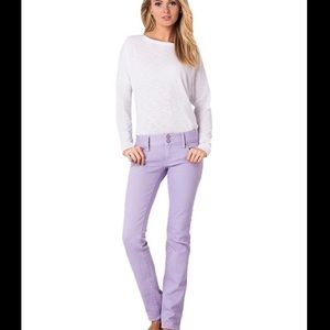Lilly Pulitzer Worth Straight Jeans Wisteria NWOT