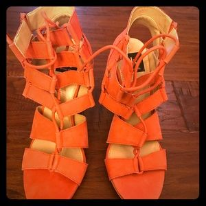 D.v by dolce vita coral suede sandals