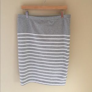 Gap Knit Striped Pencil Skirt size Large
