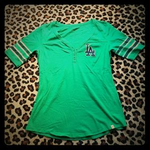 47 Brand Tops - Rare Los Angeles Dodgers St. Patrick s Day Top.   5c0215b89ff