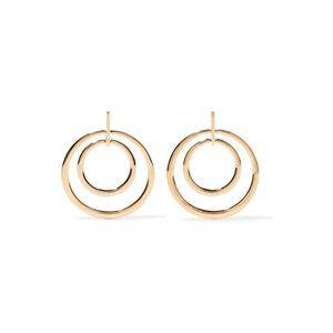 Kenneth Jay Lane Gold Plated Hoop Earrings