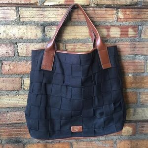 FOSSIL Giant woven bag with leather