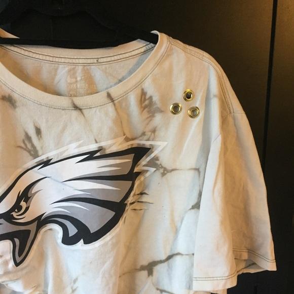8a13ffc3 Philadelphia eagles acid wash distressed crop