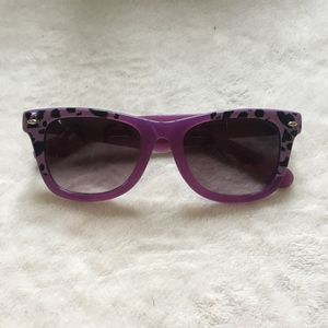 new // Betsey Johnson   Purple Cheetah Sunglasses
