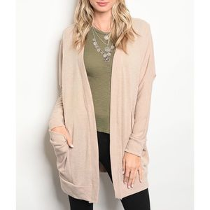 | COZY OVERSIZED POCKET CARDIGAN |