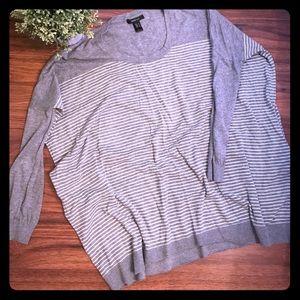 Oversized Mango gray striped sweater