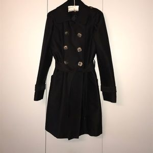Kenneth Cole Black Trenchcoat