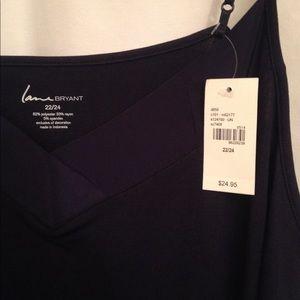 Lane Bryant blue camisole tank top cami 22/24