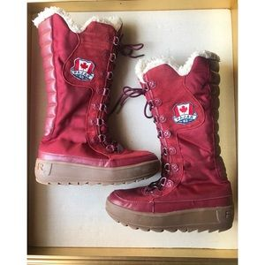 Pajar Red Boots